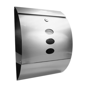 Stainless Steel Wall Mounted Mail Letter Post Box Mailbox A4 Outdoor Lockable Waterproof with Newspaper Holder