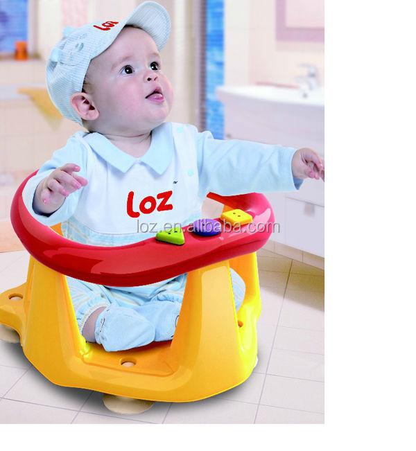 Yellow Baby Infant Shower Tub Ring Anti Slip Seat,Kid Bathroom ...