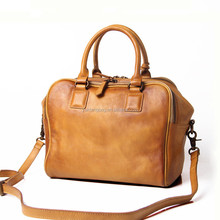 Crazy horse leather tote bag retro leather shoulder bag high-capacity female cross body totes bag