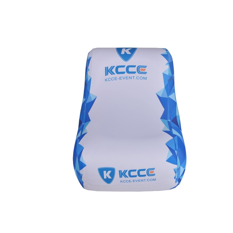 KCCE comfortable advertising single sofa and table inflatable furniture