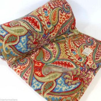 Plush Paisley Throw Blanket Burnt Orange Tan Blue Red Sage Green Gorgeous Red And Blue Throw Blanket
