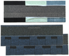 Laminated Asphalt Shingles (Color: Burning Blue)