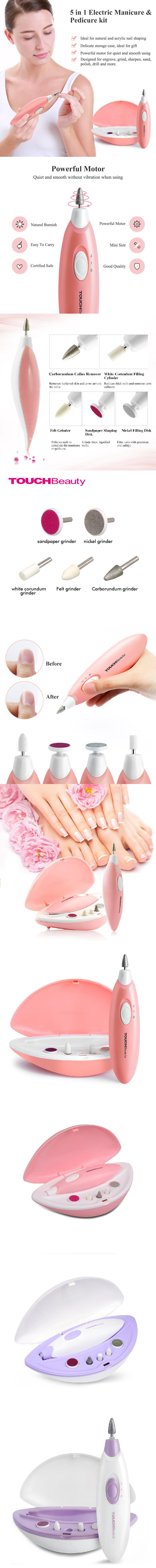 Professional Manufacturer white color electric manicure and pedicure set