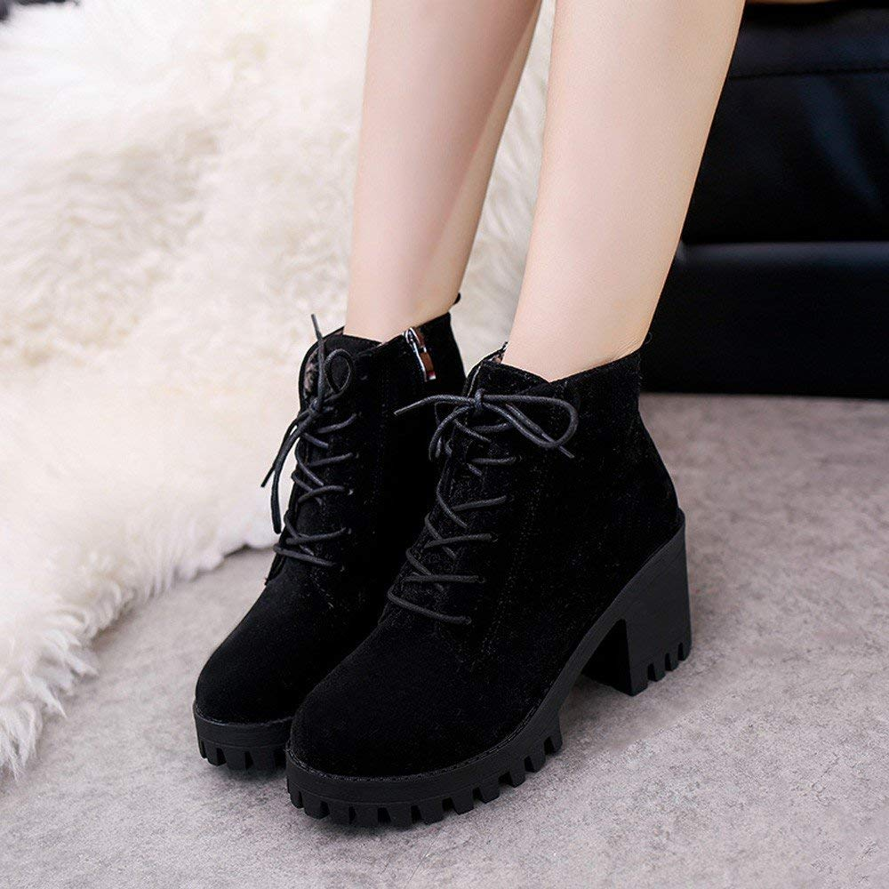 10ac1f4cb4d Get Quotations · Gyoume Ankle Boots