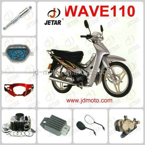 Motorcycle part WAVE 110 SPROCKET/SPEDOMETER/foot mat/mirror/kick stand for wholesale