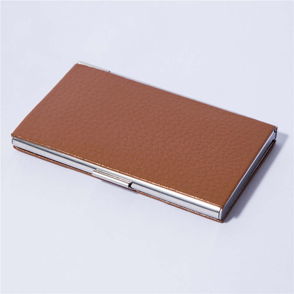 Leather Business Card Holder /metal Black Men Name Card Case ...