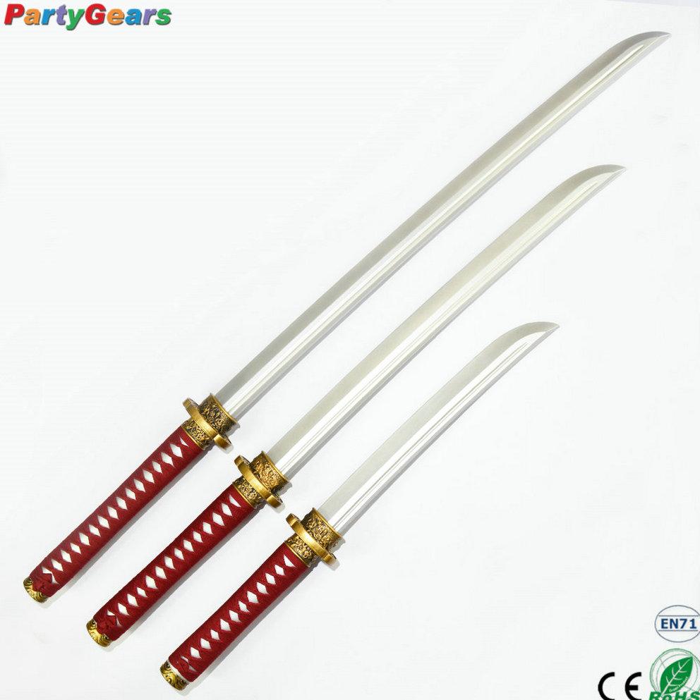Crossdresser using samurai sword cocktail picks womens
