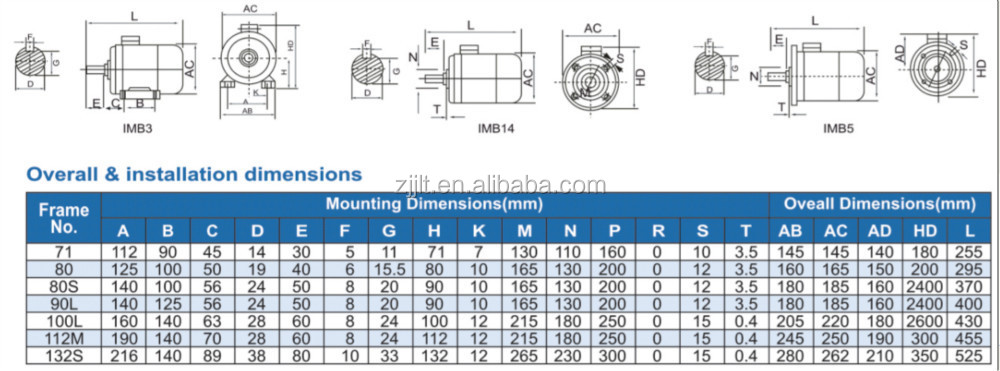Yl Series Single Phase 1/2 Hp 220v 2880rpm Dual Capacitor Induction ...