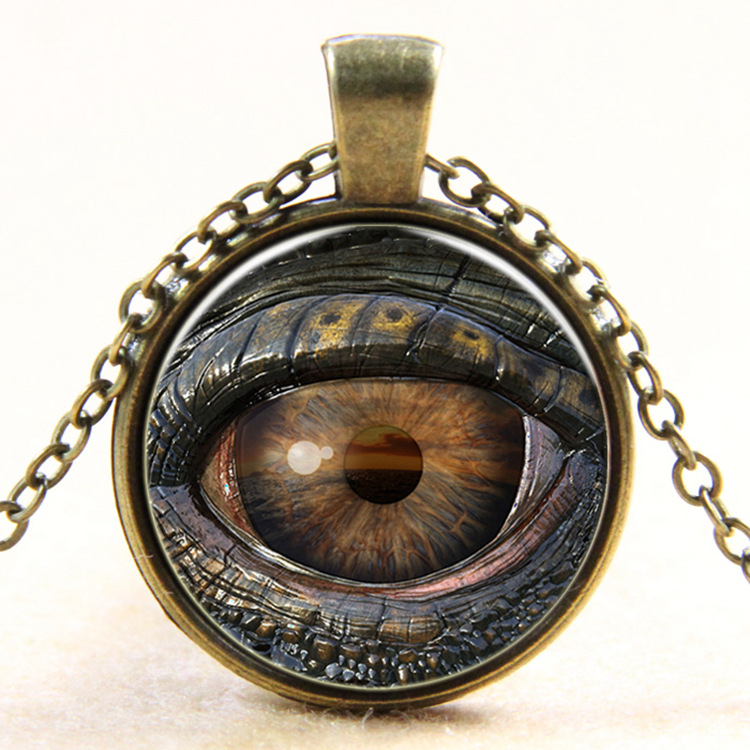 DIY Image Eye Glass Necklace Time Stone Pendant Necklace