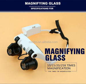 Glasses watch repairment magnifier with led lamps