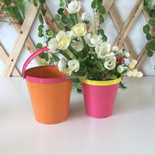 Small colour christmas decoration metal bucket for kids