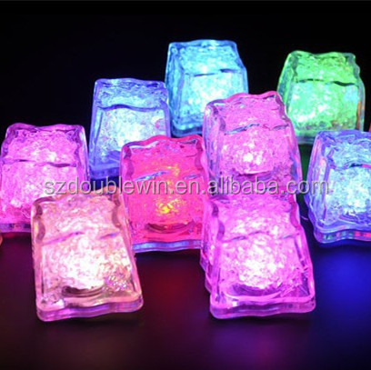 LED reusable <strong>wine</strong> ice cubes drinkware plastic glow ice cubes