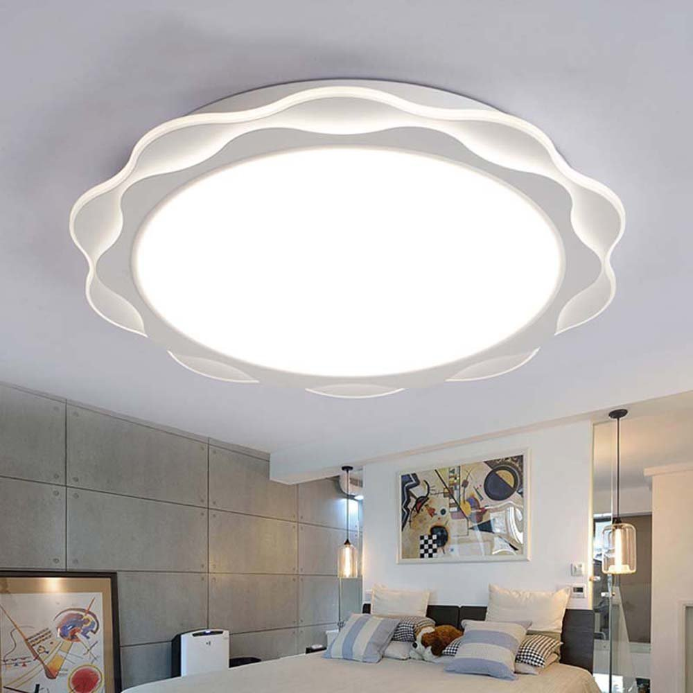 DIDIDD Ceiling light- led warm and romantic flower-shaped acrylic dimming ultra-thin ceiling lights bedroom wedding room creative children's room ceiling lights (size, Light color optional) --home wa