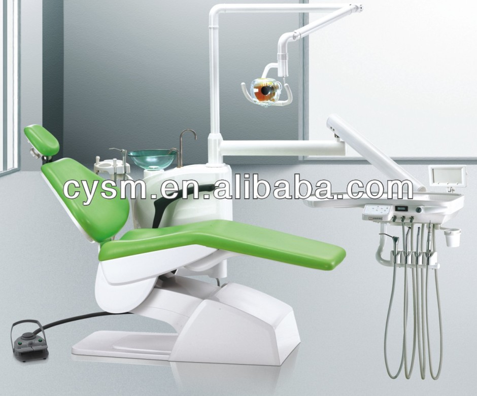 Dental Equipment Apple Green Color Electric Dental Chair