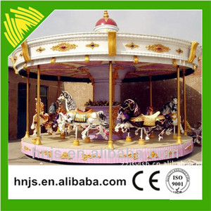 2016 Hot selling amusement park mechanical adults carousel horse ride