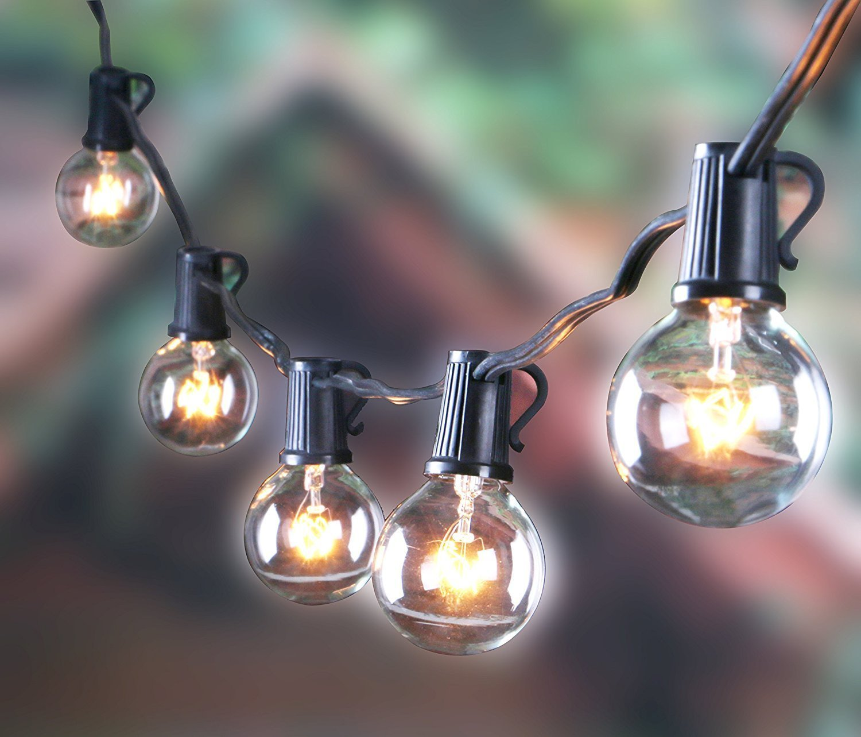 Buy 25ft Outdoor G40 Globe String Lights Vintage Backyard
