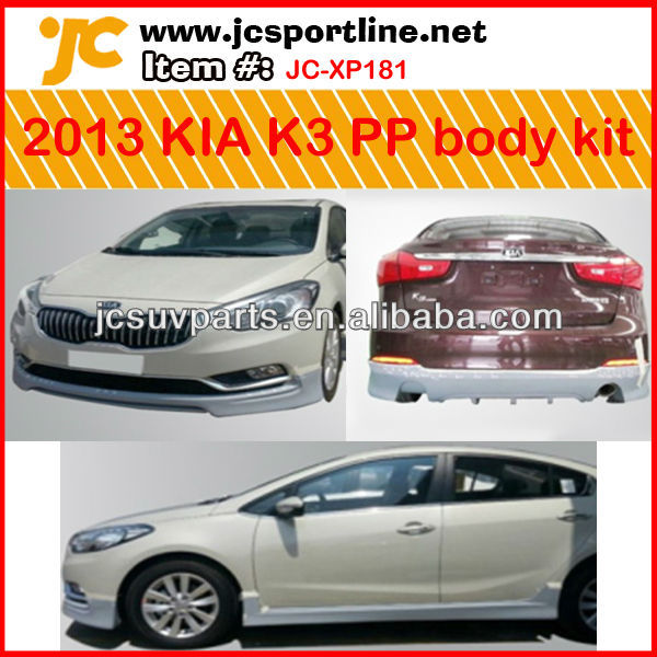k3 pp body kit voor 2013 Kia k3 lichaam bumper kit car body styling kits