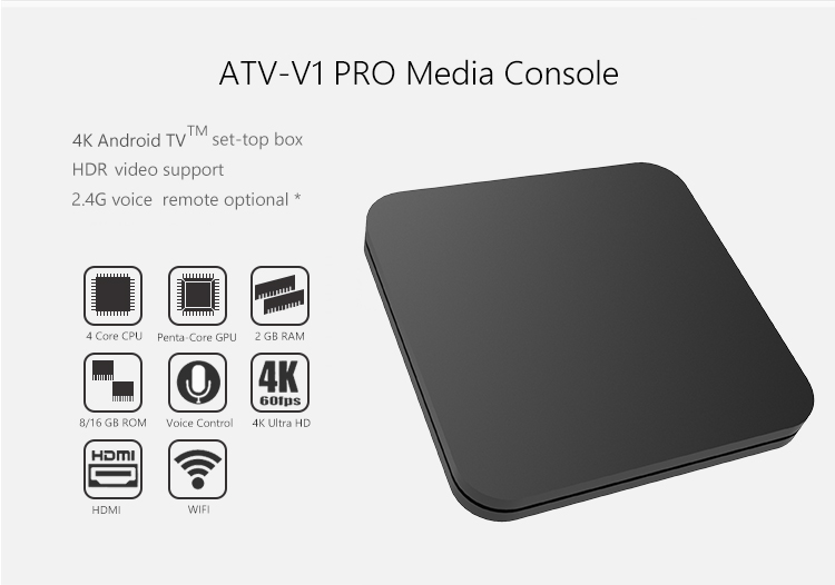 New Arrival Custom Logo S905W 4K 1GB RAM 8GB ROM Mini Wifi Set Top Box  Android 8 1 TV Box with Voice Control, View New Arrival Custom Logo S905W  4K