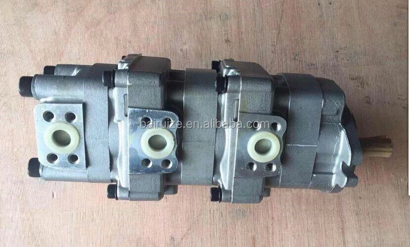 STEERING PUMP, Transmission Pump, WA320 WA320-6 Wheel Loader hydraulic gear work pump 705-56-36050, 705-58-47000, WA600-1