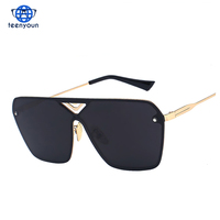 Fashion Rimless Square Sunglasses Men 2017 New Italy Brand Designer Luxury Women UV400 Mirror Sunglasses Male Eyewear
