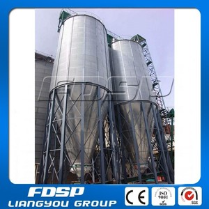Professional Manufacturer Food Processing storage silo-Steel Storage Grain Bins-1ton 20ton 50ton 100ton Small Grain Silos