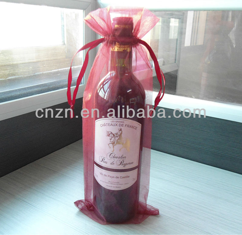 wine packing bag organza bag