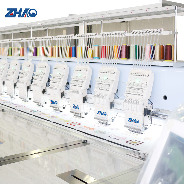 cheap price 4 needle double color change boxes flat embroidery machine