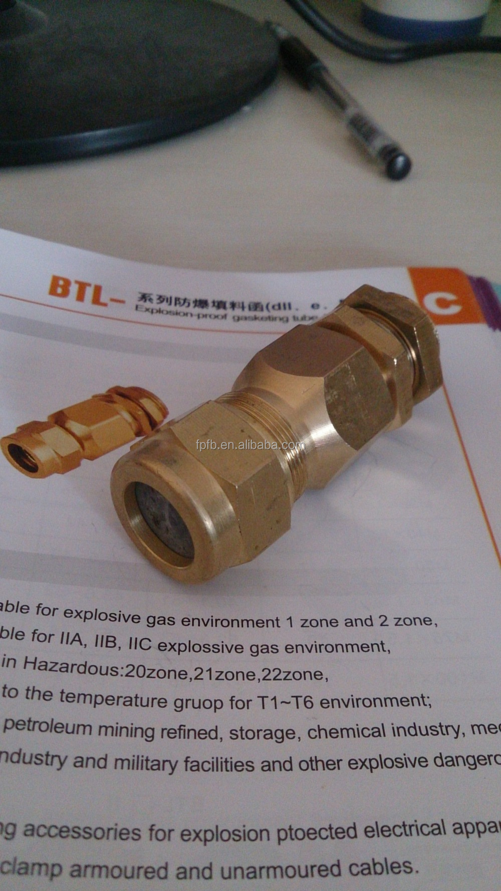 Btl Explosion Proof Brass Cable Gland With High Quality