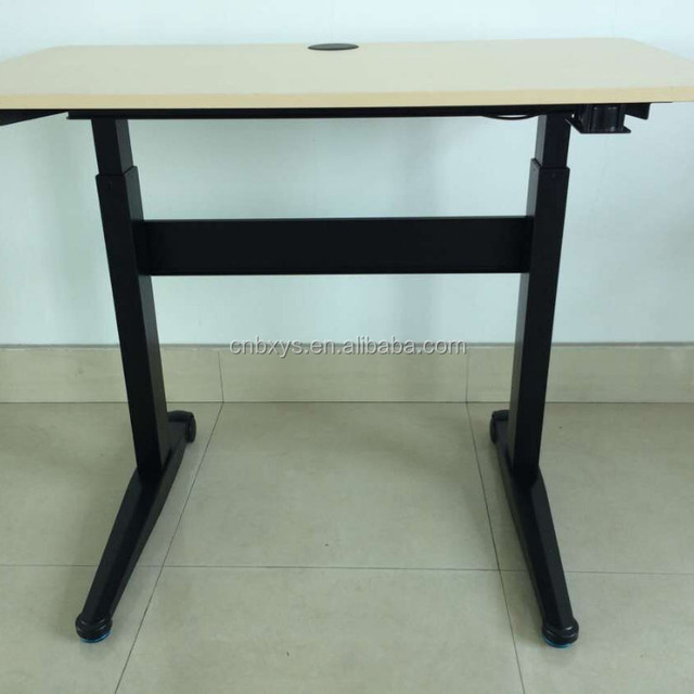 Modern Height Adjustable Office Desk | Gas Spring Lifting Table | Raise Desk