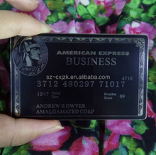 Engraved Stainless Steel American Express Black Metal Business Card