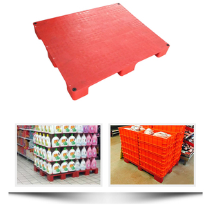 1200*1000mm 9 feet hygienic floor stacking plastic display pallets