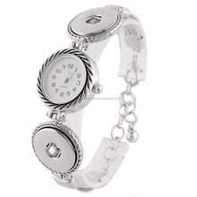 partnerbeads 23CM 2 buttons snaps metal Bracelets with watch fit 18-20mm snap jewelry KC0631
