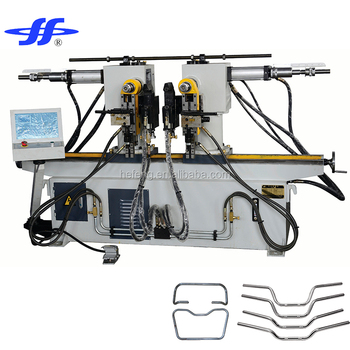 Double-had hydraulic pipe-bending machine