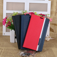 Hit color jeans Flip Book Style PU leather Wallet Stand Cover Case for SONY Xperia E5 Two colors Wallet Holster