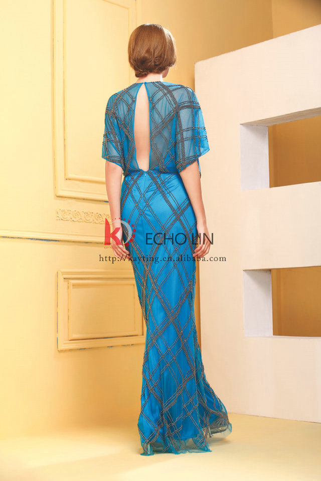 900b359f3 Alibaba latest evening gown design see through bead tulle real sample new  evening dress for evening