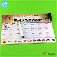 Promotional fridge schedule magnet small erasable boards cheap custom magnet timetable