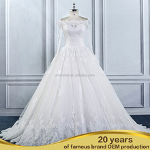 AL16107 New Aline alibaba wedding dress white With Sleeves