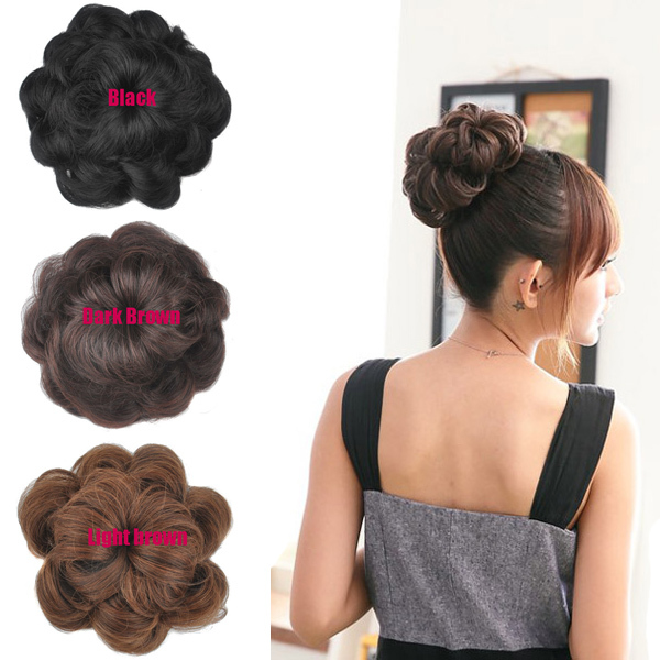 1pcs Curly Style Girls Women Dish Hair Bun