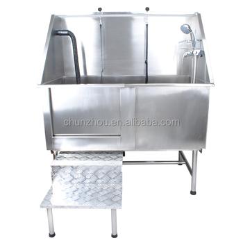 Durable Stainless Steel Dog Bathtub/ H 104