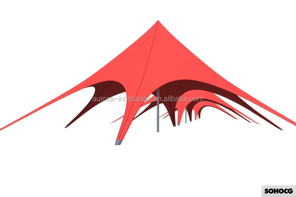 Factory price spider advertising cheap star shade star tent with customized size