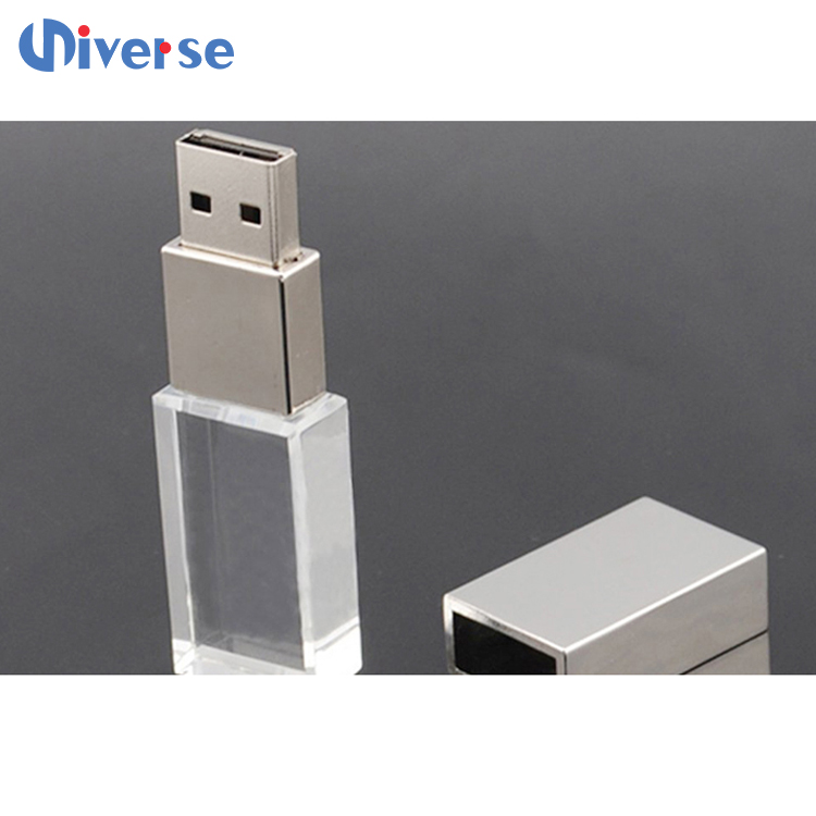 Top Selling Wholesale Price 16GB USB Flash Drive Crystal USB Flash Drive with LED Light