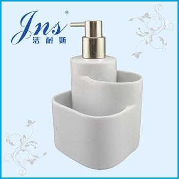 New Ceramic Lotion Soap Dispenser With Sponge Holder