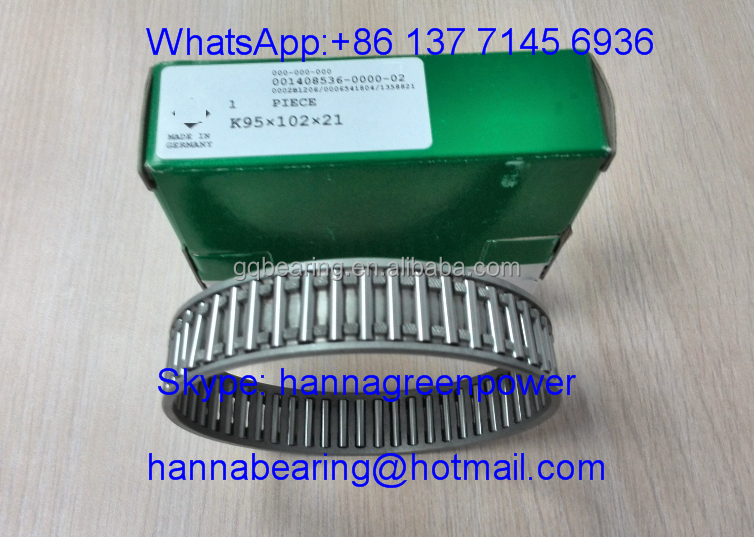 K95X102X21 Metal Cage Needle Roller & Cage Assembly Bearing 95*102*21mm