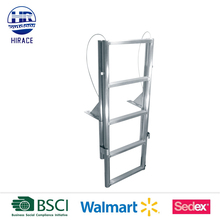 Welded construction aluminum dock stairs