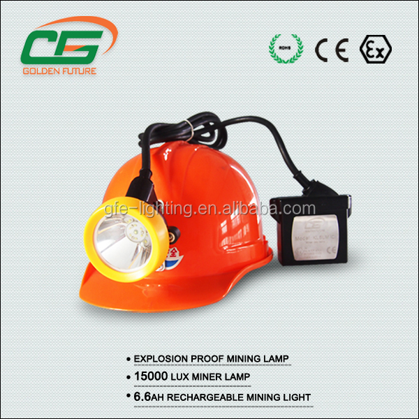 Portable 15000 lux LED coal miner safety headlamp