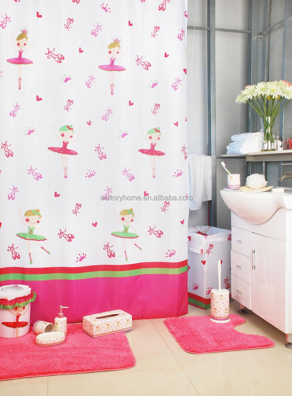 Flower Fairy Bathroom Set/shower Curtain With Bath Rug Sets - Buy ...