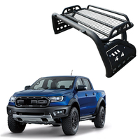 Universal black steel roof rack cargo carrier roll bar with roof rack top basket for pickup truck 4x4