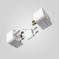 multi-nation universal multifunction travel adapter with double usb charging port