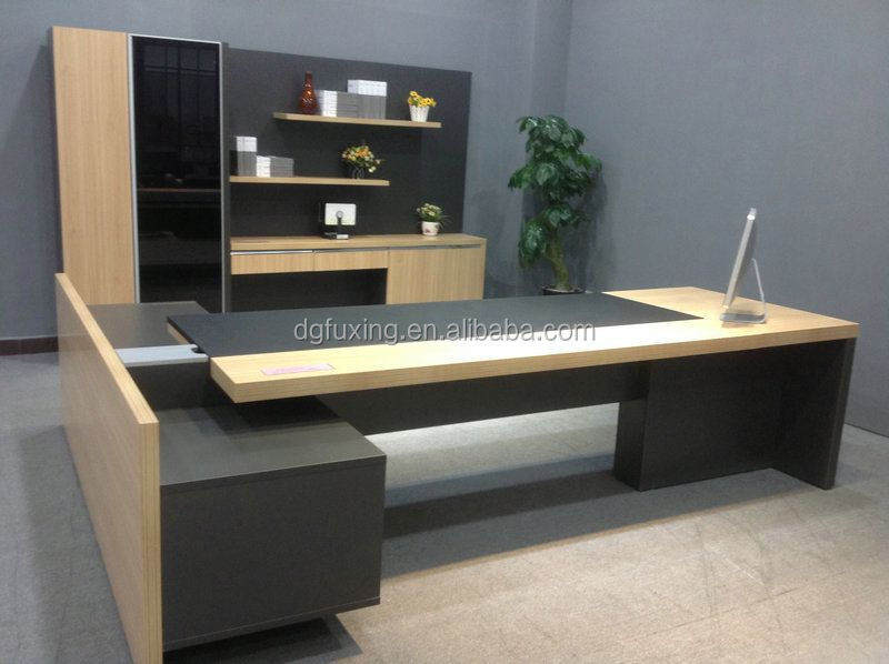 High Quality Pine Wood Desk Office Furniture Fashion Executive