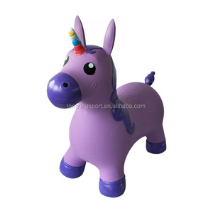 kids unicorn hopper inflatable unicorn jumping animal toys